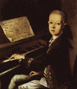 Wolfgang Amadeus Mozart da bambino