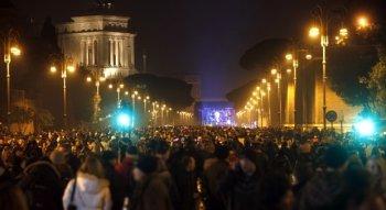 Capodanno a Roma piazza