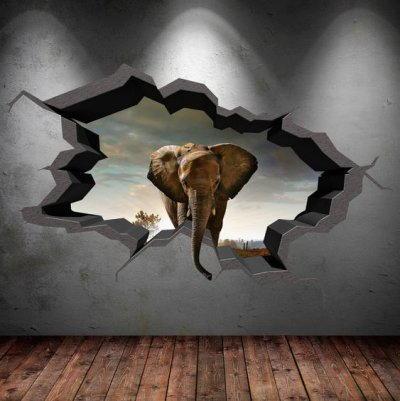 parete con elefante