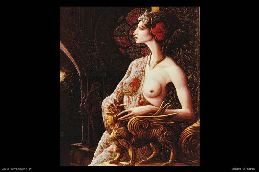 abate alberto dipinti figura femminile