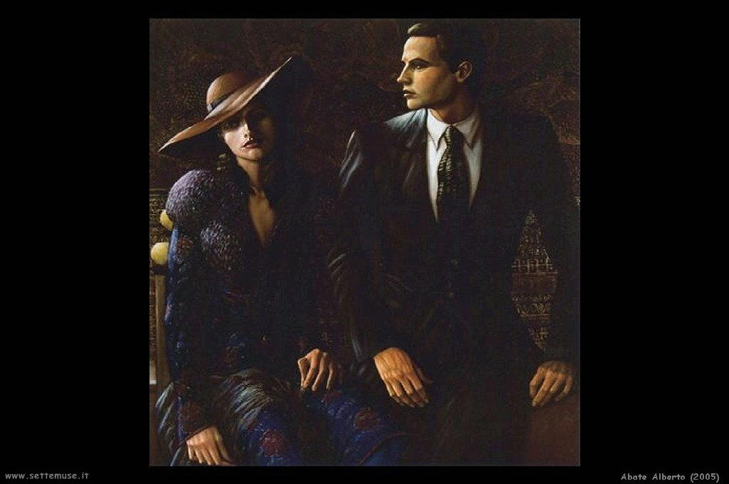 abate alberto ritratto uomo e donna 2005