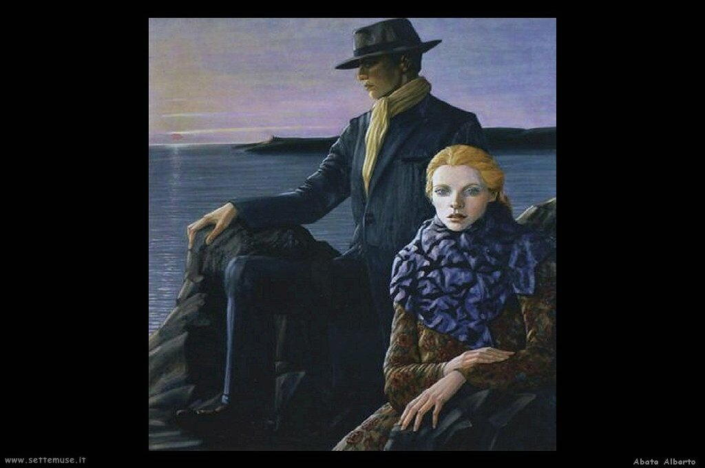 abate alberto ritratto uomo e donna