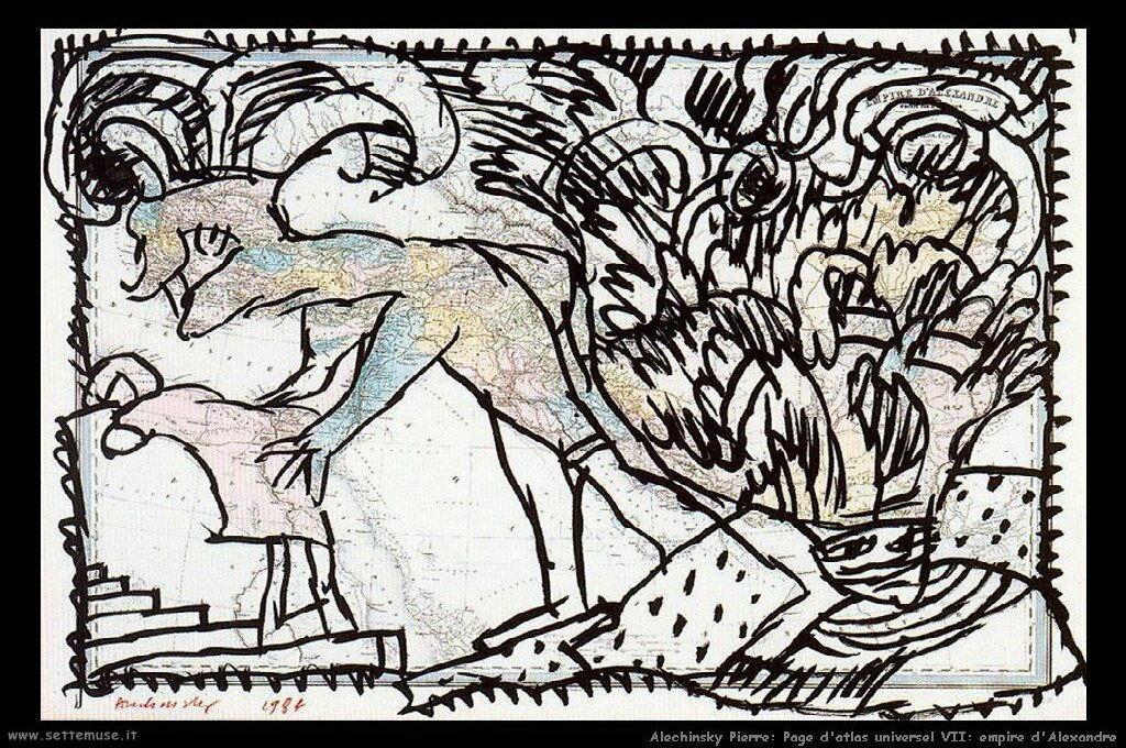 alechinsky_pierre_026_page_d_atlas_universel_VII_empire_d_alexandre