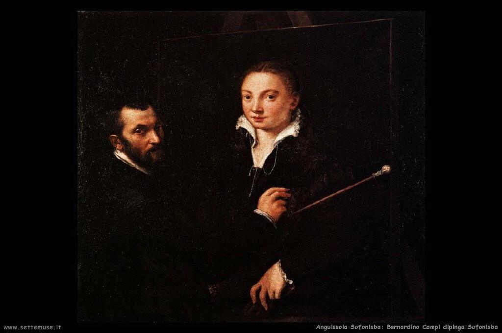 Bernardino Campi dipinge Sofonisba