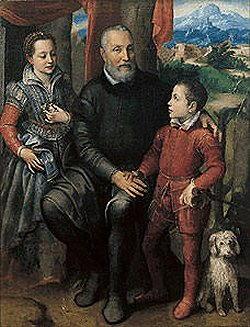 gruppo di famiglia di Sofonisba Anguissola