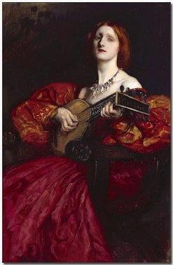 Donna con chitarra di Antolinez Claudio José