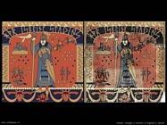 Disegno e originale d'epoca di un arazzo