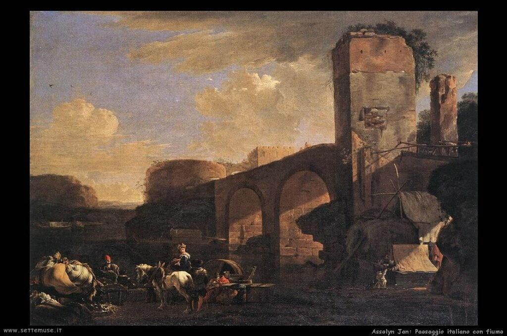 Panorama italiano con fiume