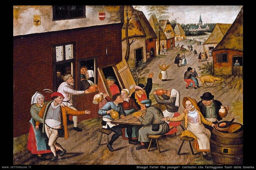 Brueghel_pieter_the_younger_672_peasants_making_merry_outside_a_tavern_the_swan