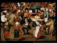 Il ballo del matrimonio in una taverna