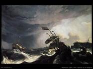 Navi in difficoltà nel mare in burrasca