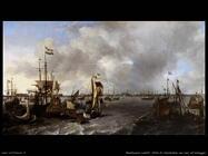 Vista di Amsterdam con navi