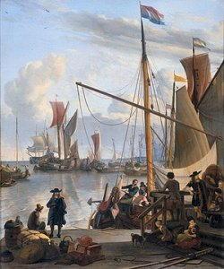 Ludolf Backhuysen scene di porto