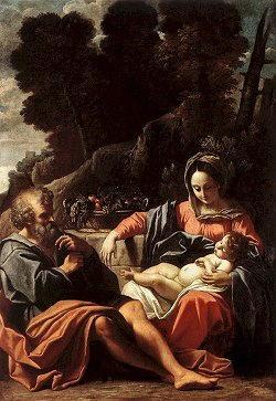 Sacra famiglia di Sisto Rosa Badalocchio