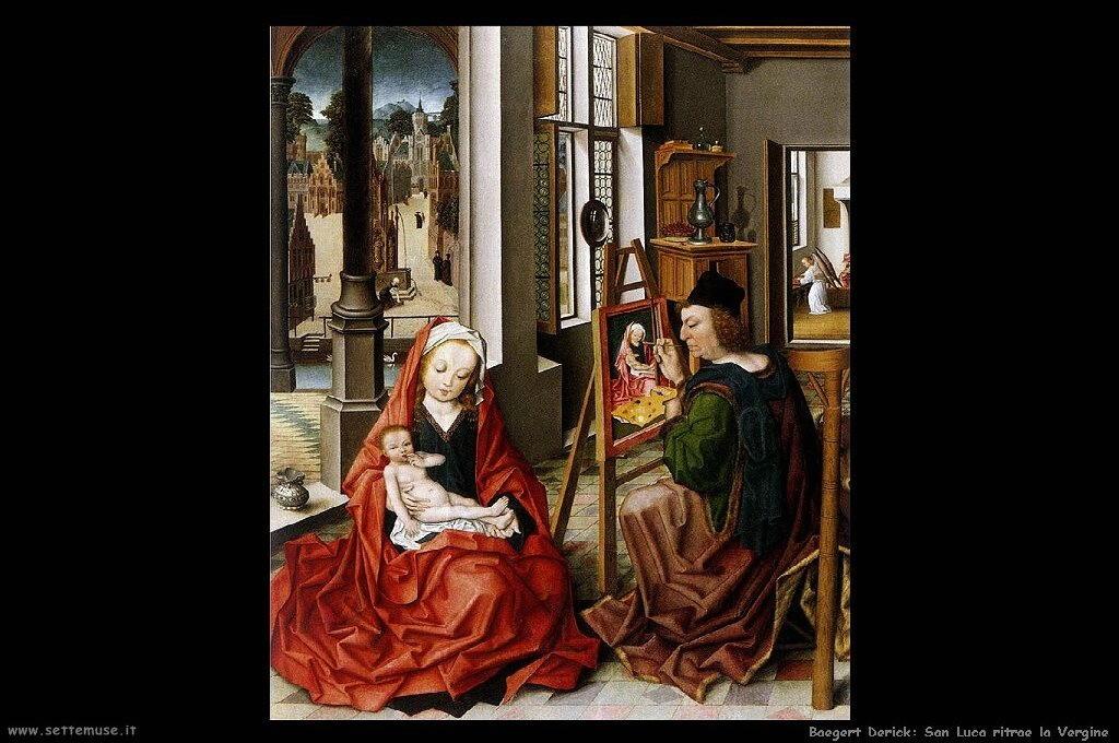 baegert_derick San Luca dipinge la Vergine