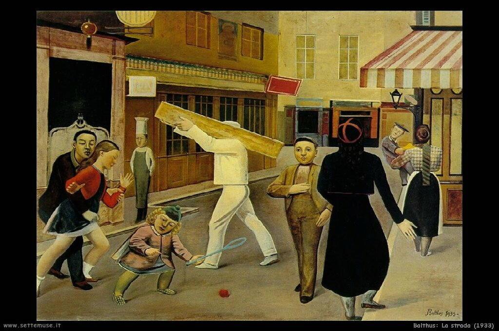 balthus La strada (1933)
