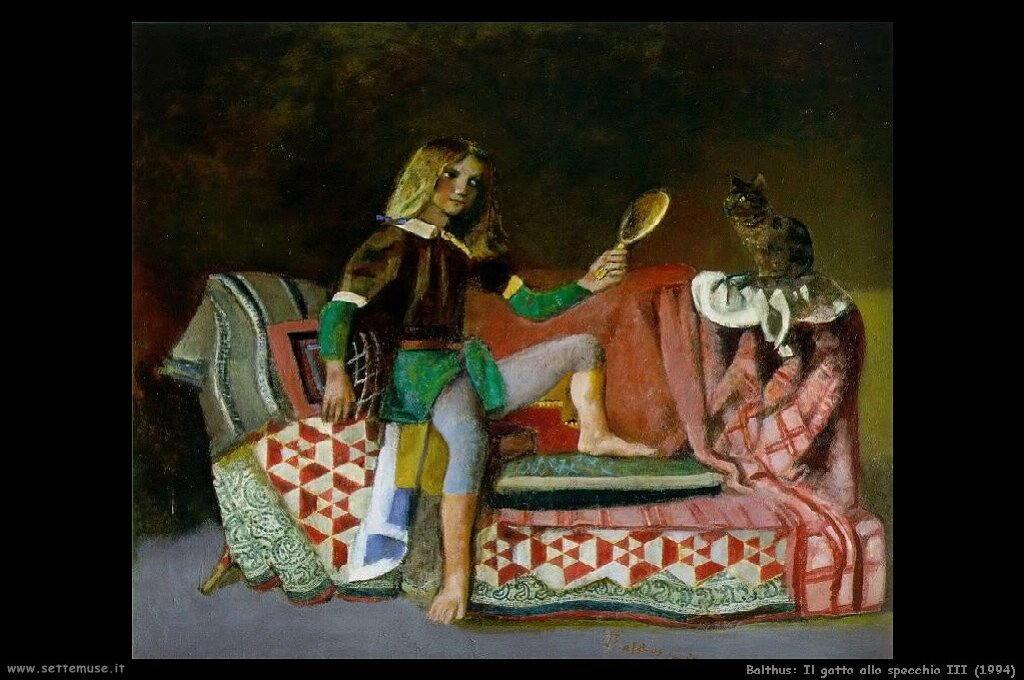 balthus Il gatto allo specchio III (1994)