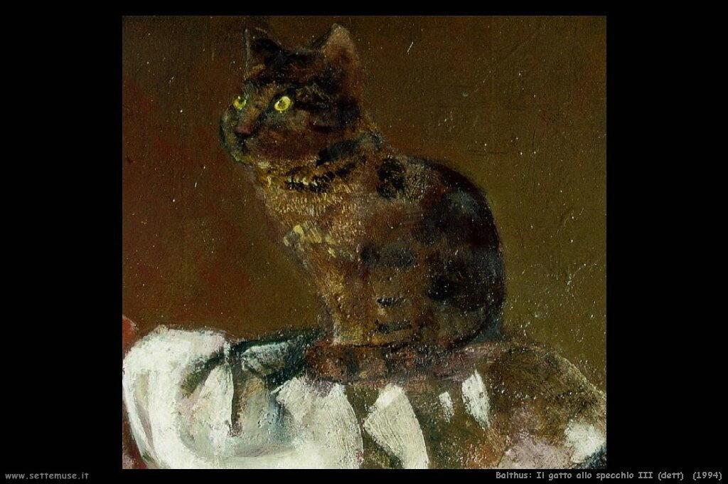 balthus Il gatto allo specchio III (1994)dettaglio