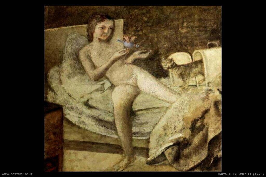 balthus Le lever II (1978)