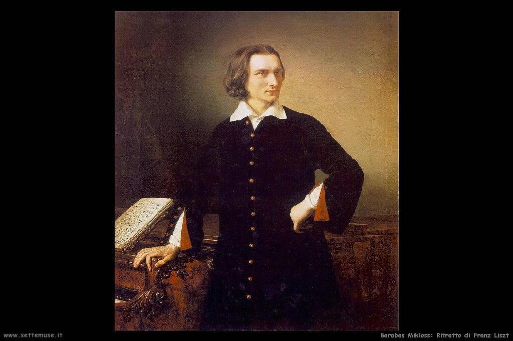 barabas mikloss Ritratto di Franz Liszt