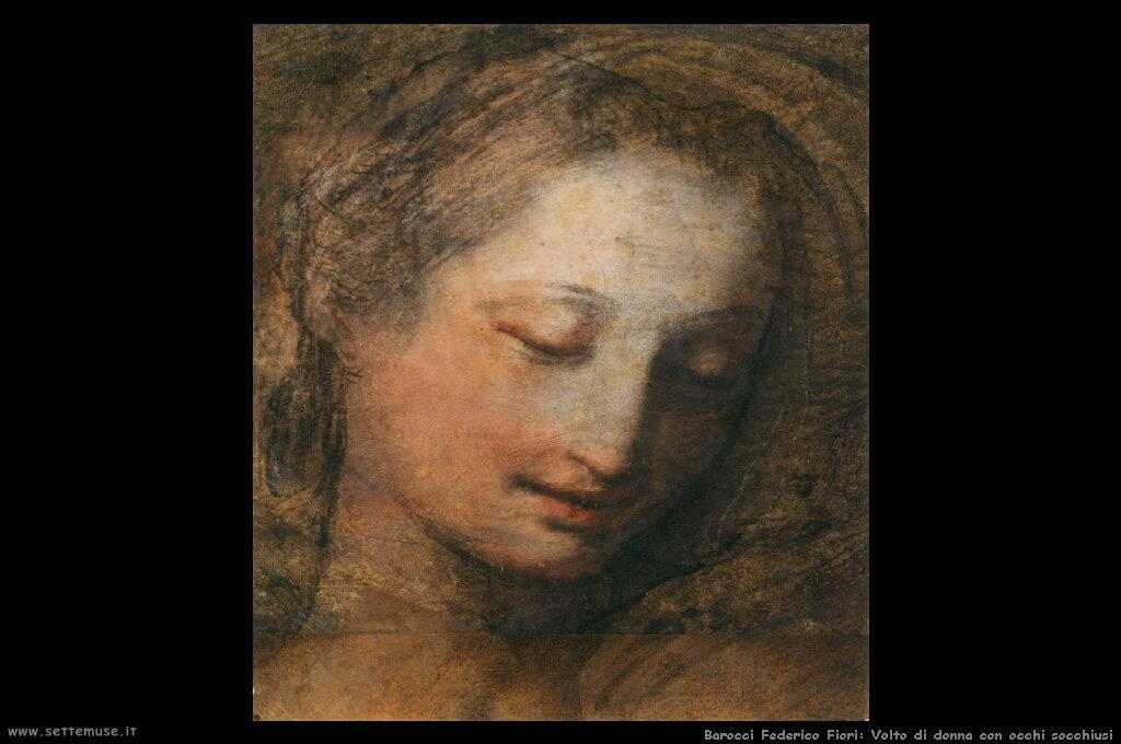 barocci_federico_fiori_504_face_of_a_woman_with_downcast_eyes