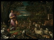 bassano francesco  Orfeo incanta gli animali