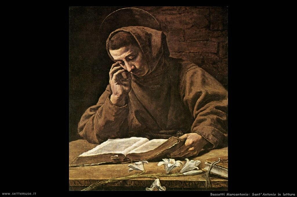 Sant'Antonio che legge