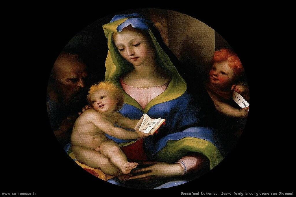 Sacra famiglia con giovane san Giovanni