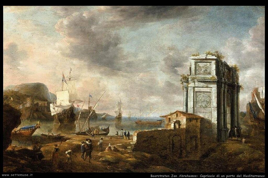 beerstraten_jan_abrahamsz_501_capriccio_of_a_mediterranean_harbour