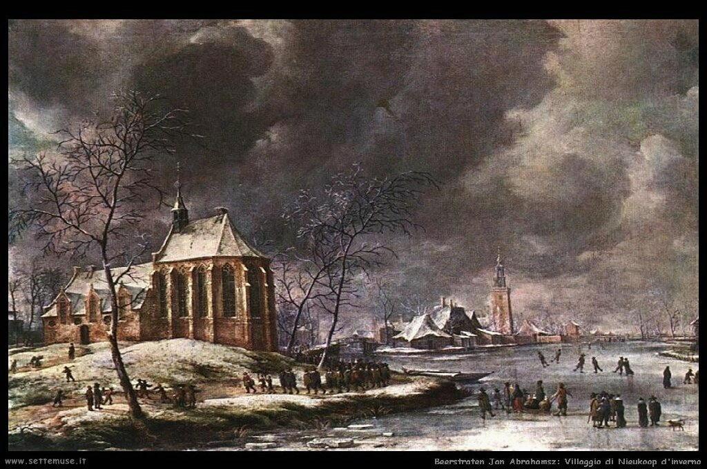 Villaggio di Nieukoop d'inverno