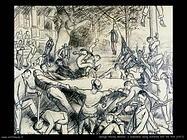 george wesley bellows Ricordo l'iniziazione dai frati (1917)