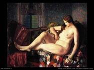 george wesley bellows  Nudo con coperta a esagoni (1924)