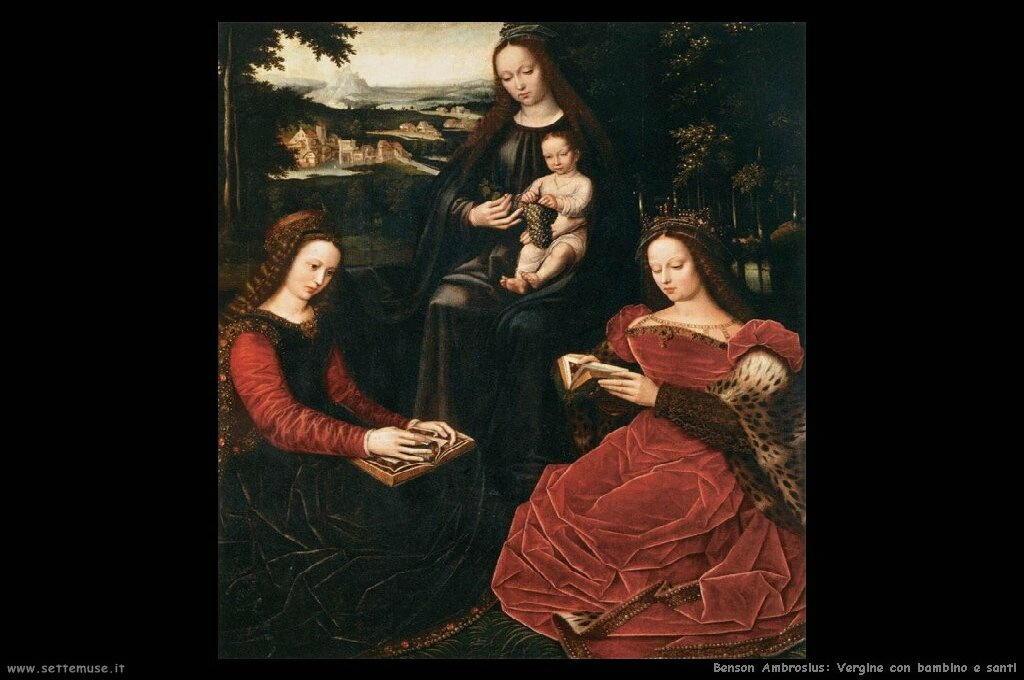Vergine e bambino con santi