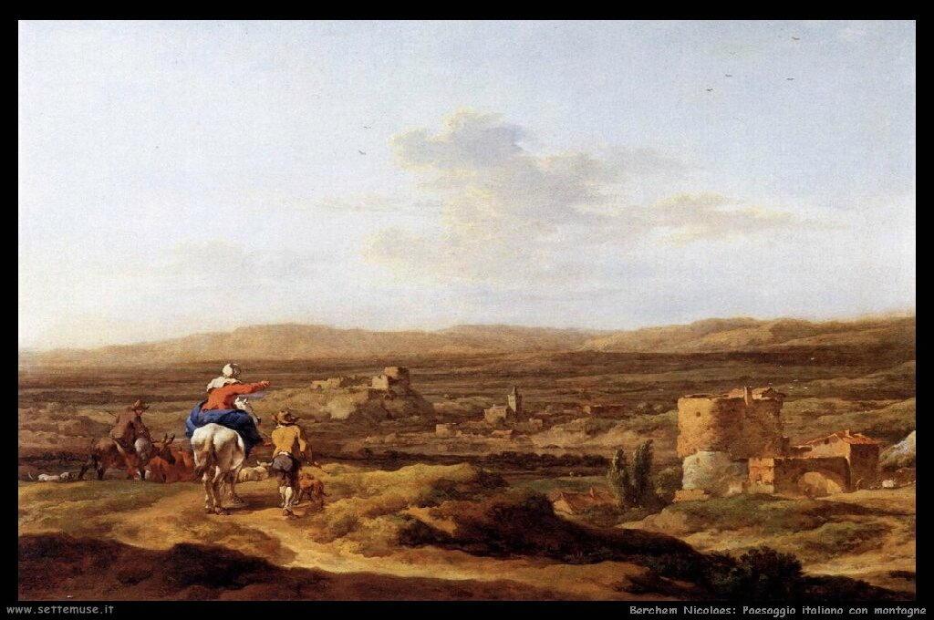 Paesaggio italiano con montagne
