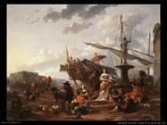 Scena di porto del sud
