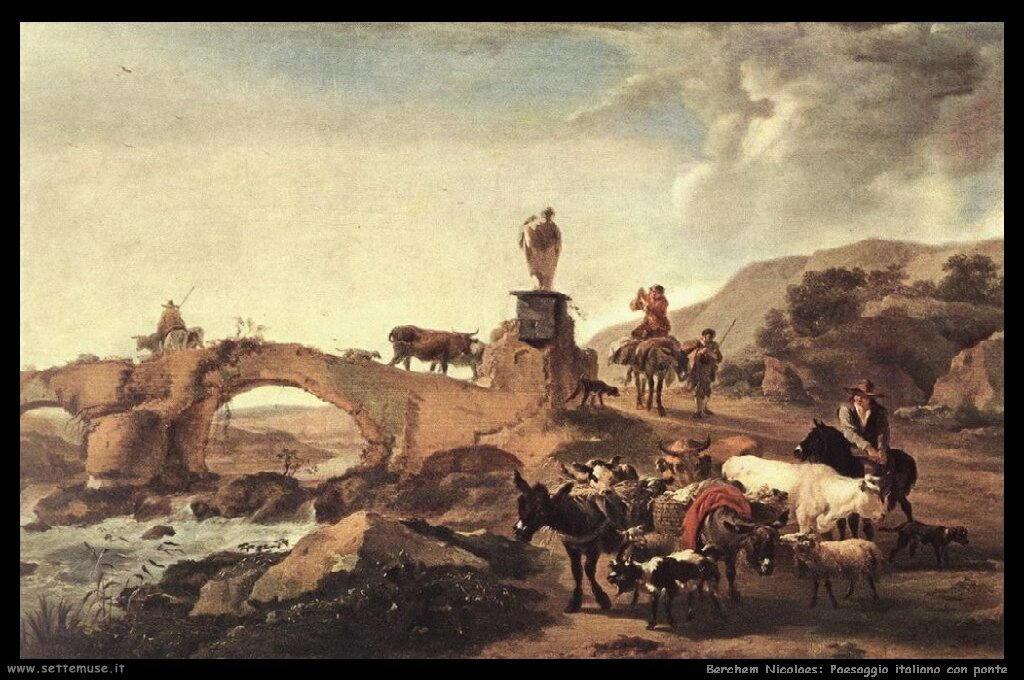 berchem_nicolaes_508_italian_landscape_with_bridge