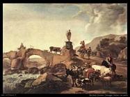 Paesaggio italiano con ponte