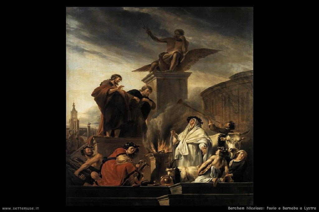 berchem nicolaes Paolo e Barnaba a Lystra