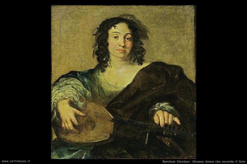 berchem_nicolaes_515_a_young_woman_tuning_a_lute