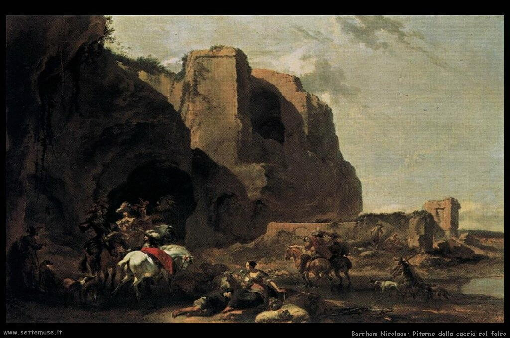 berchem_nicolaes_520_return_from_the_falcon_hunt