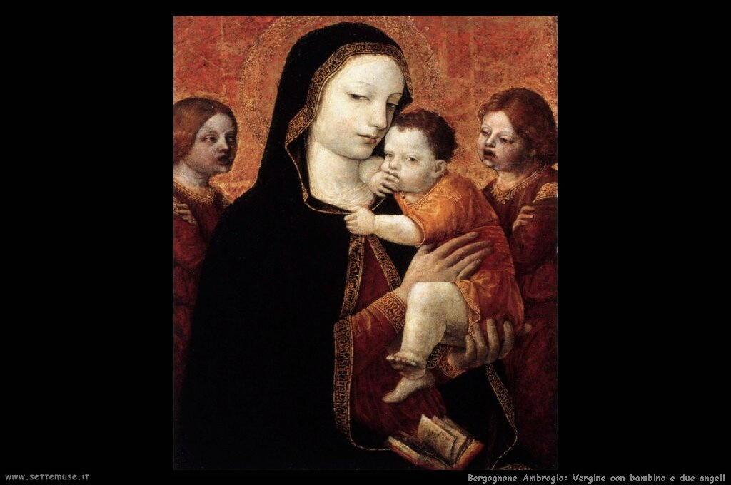Vergine e bambino con due angeli