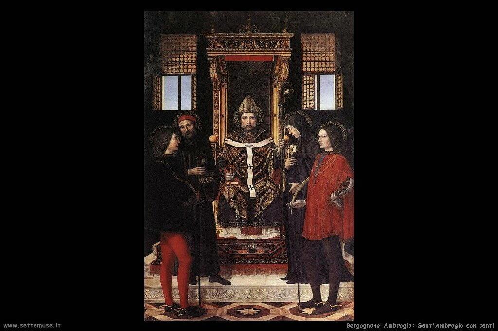 Sant'Ambrogio con santi
