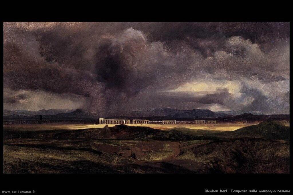 Tempesta sulla campagna romana