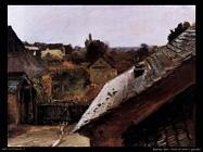 Vista dei tetti e giardini