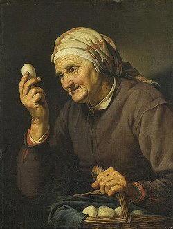 bloemaert abraham venditrice uova