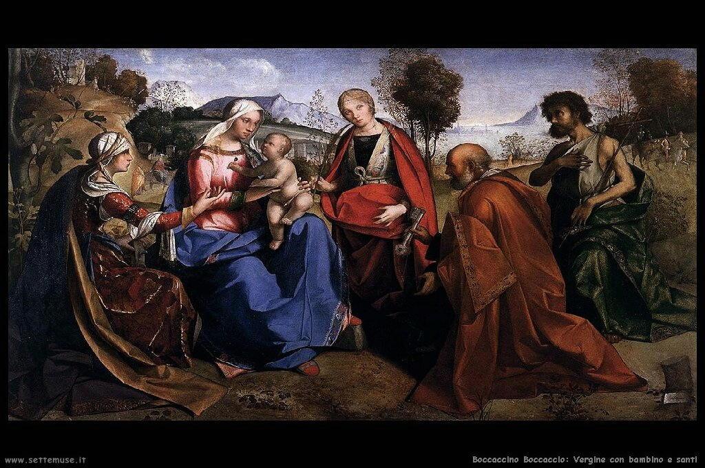 Vergine con bambino e santi
