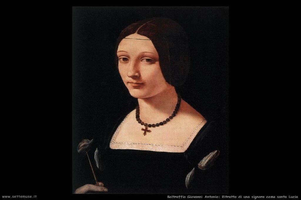 Ritratto di una signora come santa Lucia