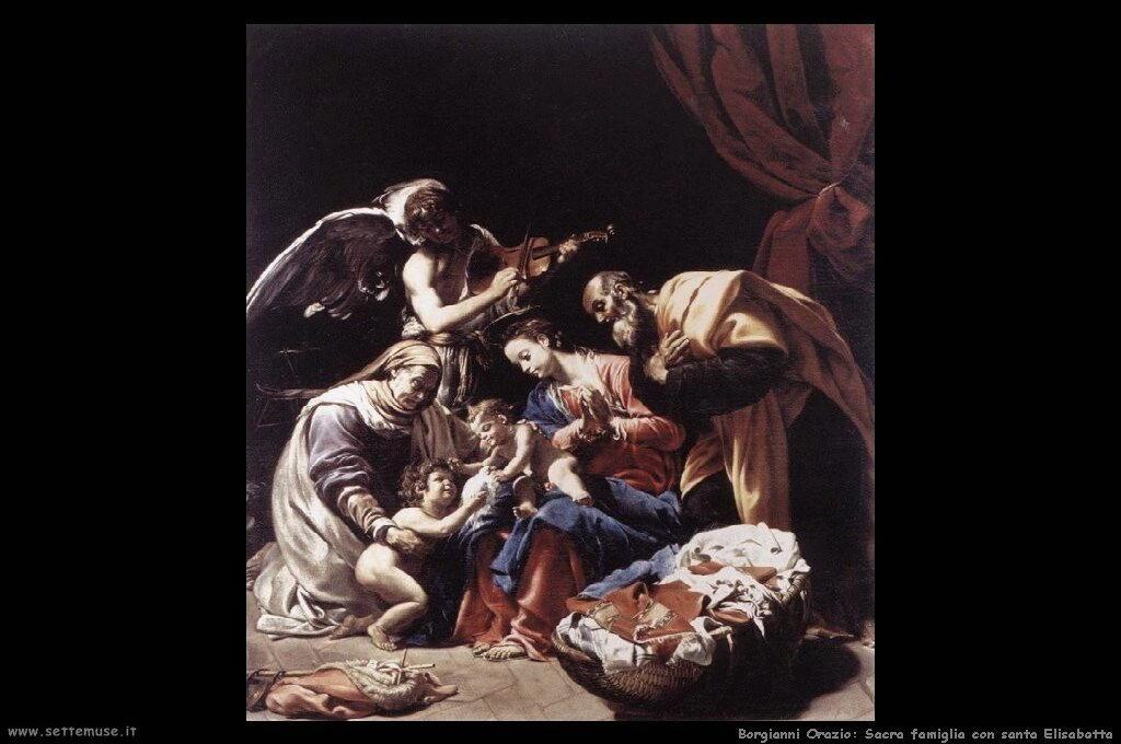 Sacra famiglia con santa Elisabetta