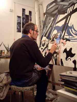 Bortolossi Walter, l'artista al lavoro