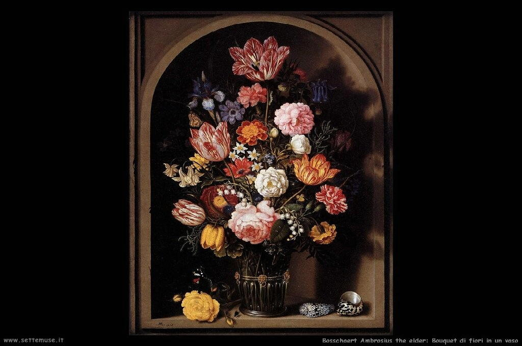 Bouquet di fiori in vaso